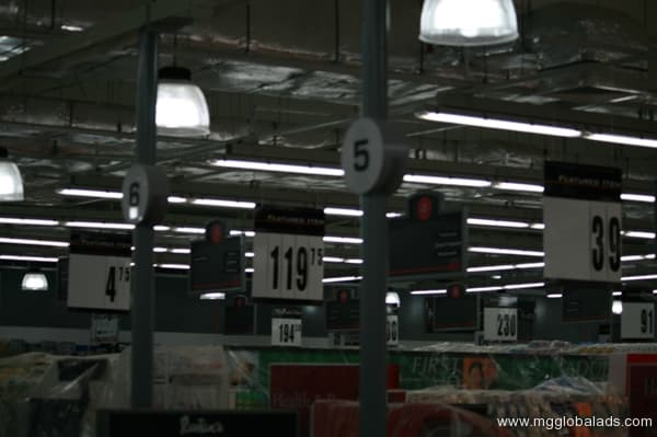 supermarket signs |photo luminescent sign |directional signs