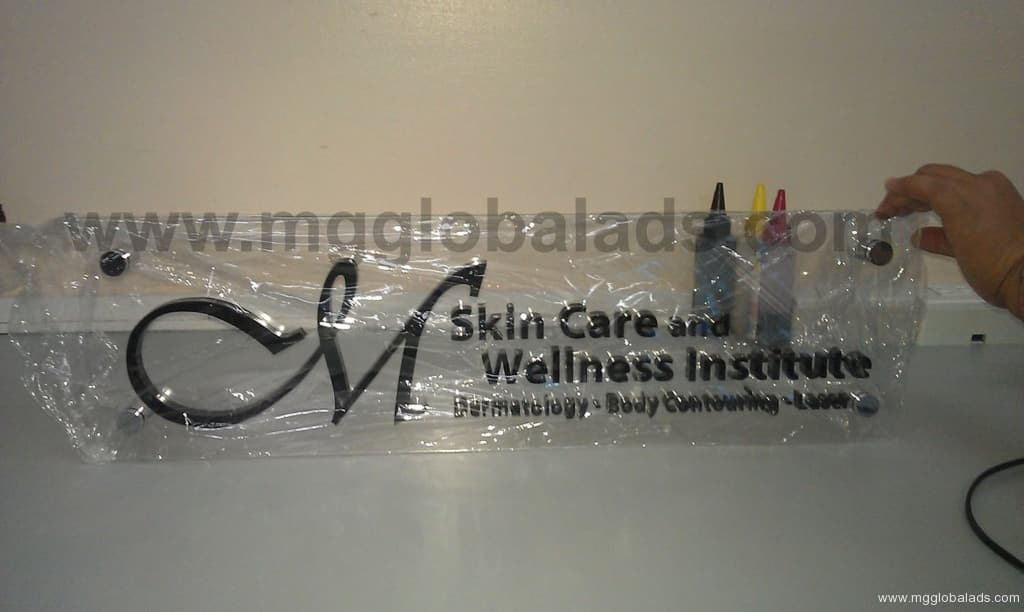 acrylic lobby signs |photo luminescent sign |directional signs