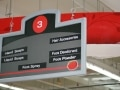 supermarket directional signs|photo luminescent sign |directional signs