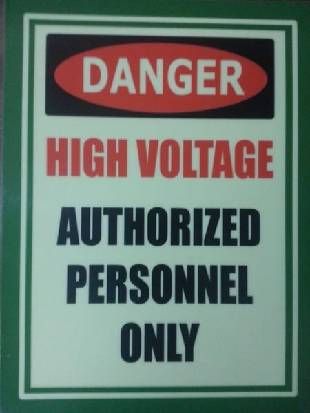 authorized personnel|photo luminescent sign |directional signs | photoluminescent sign