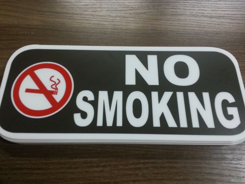 no smoking|photo luminescent sign |directional signs