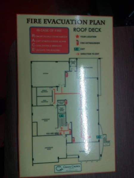 evacuation map sign | photoluminescent sign