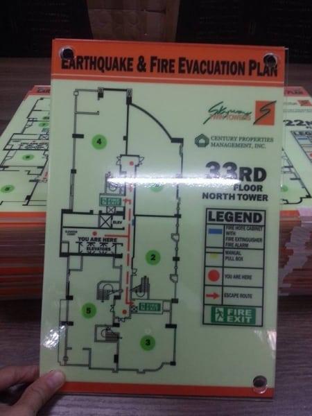 fire evacuation | photoluminescent sign