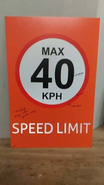 max speed signs | photoluminescent sign