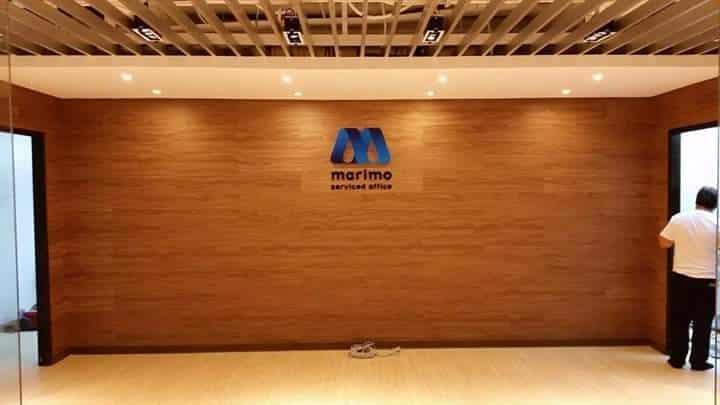 Marimo lobby signage| Acrylic Signage |signage company