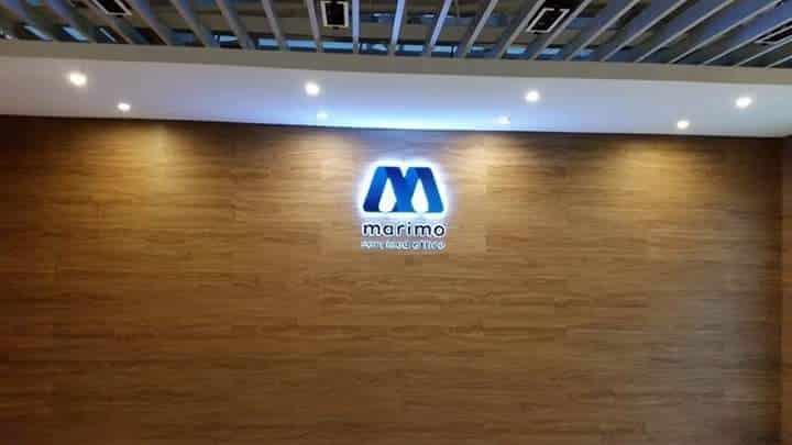 Marimo lobby sign| Acrylic Signage |signage company