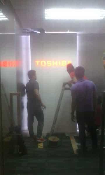 Toshiba Lobby sign| Acrylic Signage |signage company