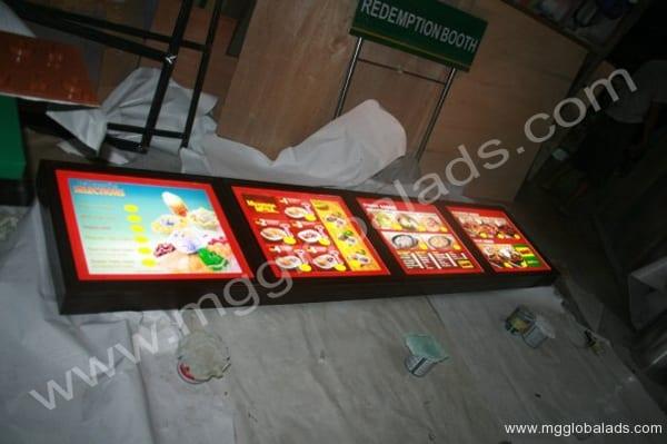 led signages| menu board| Acrylic Signage |lightboxes