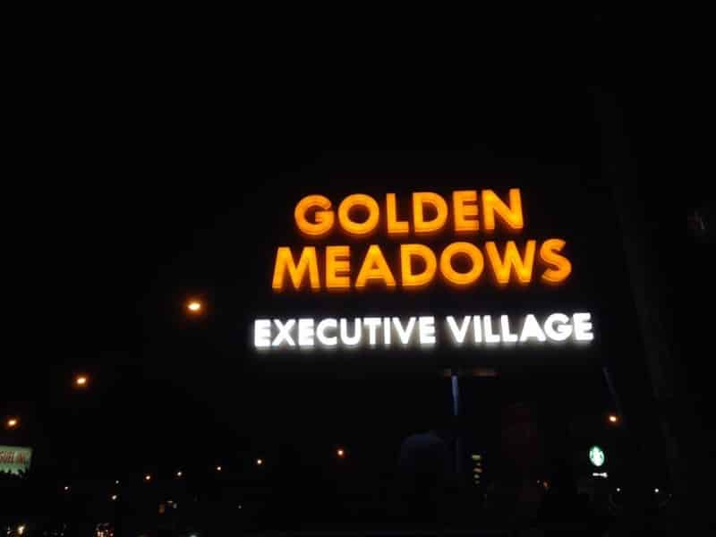 golden meadowns pylon post| Acrylic Signage |signage company