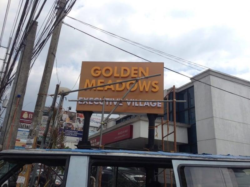 golden meadows pylon signage| Acrylic Signage |signage company