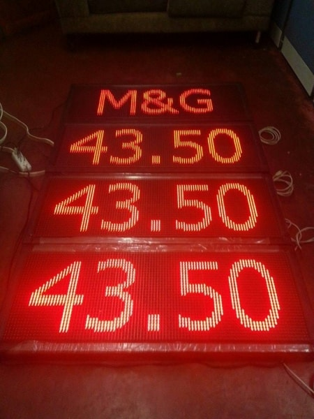 led gasoline price board 2| Acrylic Signage |signage company