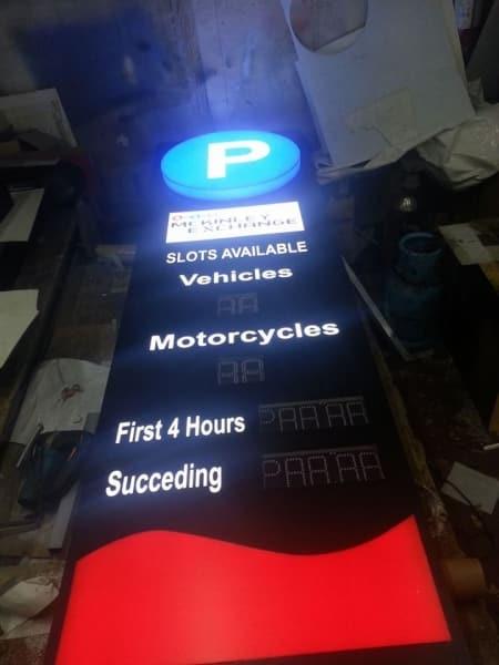 parking signage digital