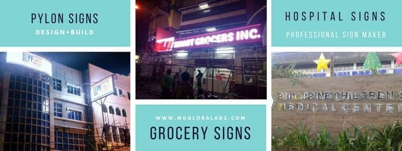 Grocery Signs - acrylic signage