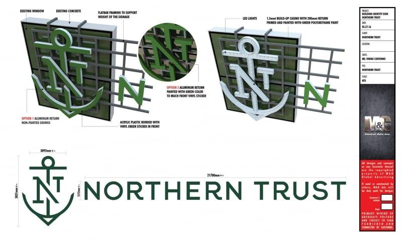 Signage design| northern trust
