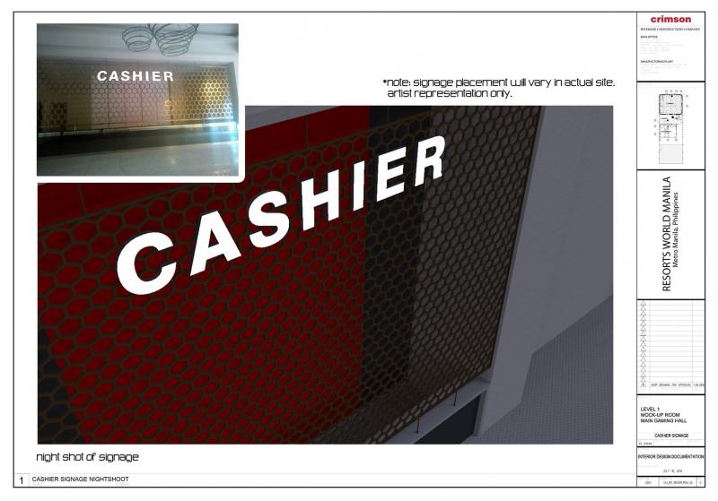 cashier acrylic signage 3 |signage design