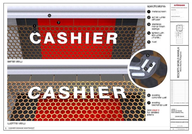 cashier signage |signage design