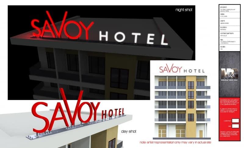 savoy |building signs 3