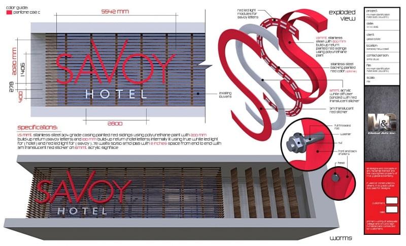 savoy |building signs 4