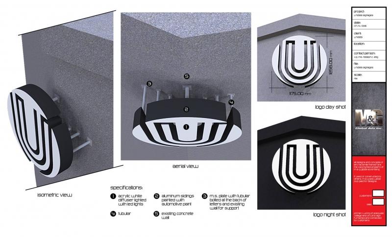 u hotel stainless signage |signage design