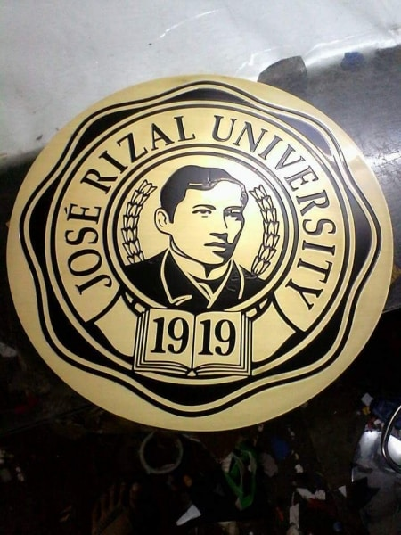 Brass engraving for JRU | engraving