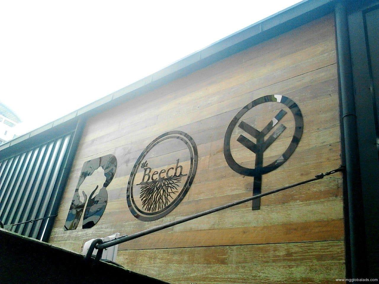 beech | wood engraving |acrylic signage | engraving