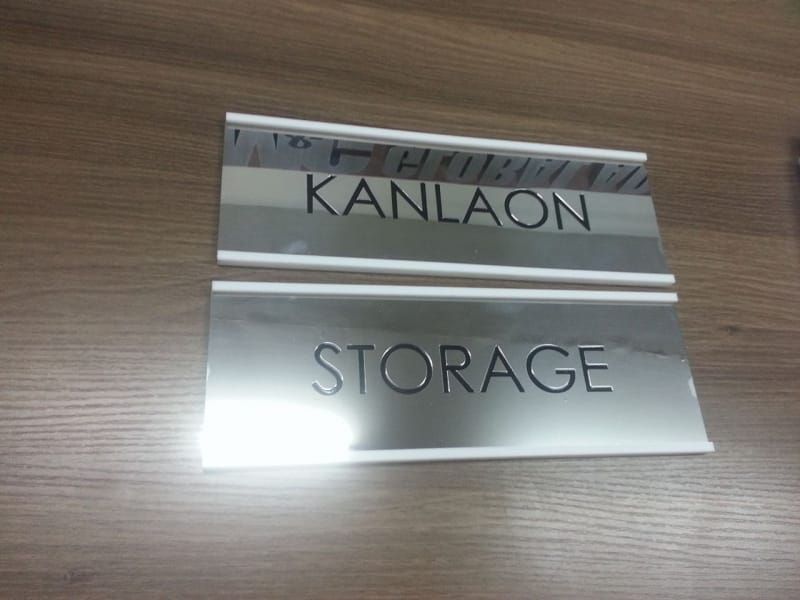 satinless room signs | engraving