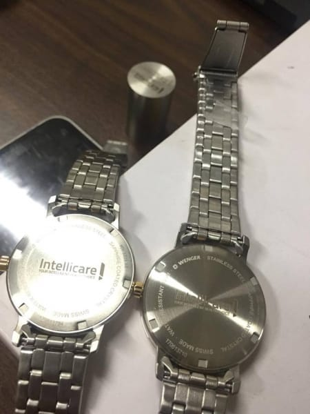 stainless engraving watch