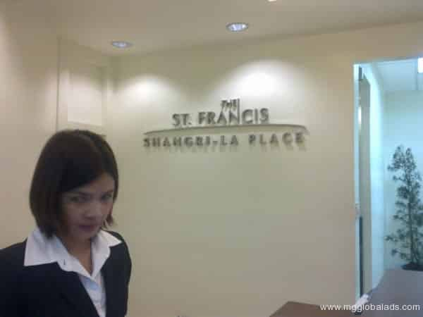 Stainless Sign | St. Francis Shangrila
