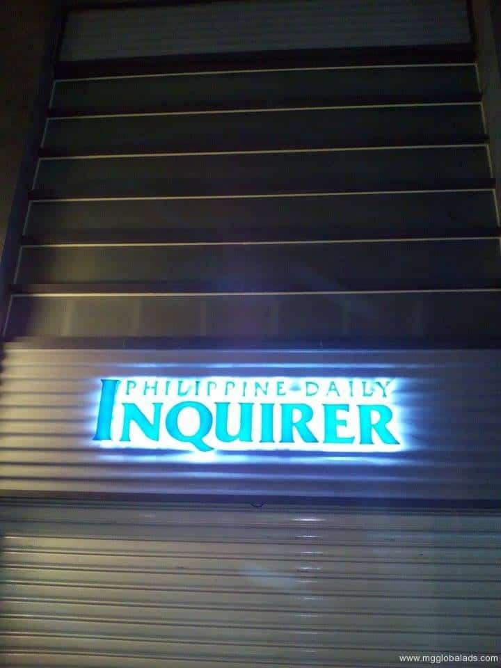 newspaper signage |acrylic signage |Inquirer