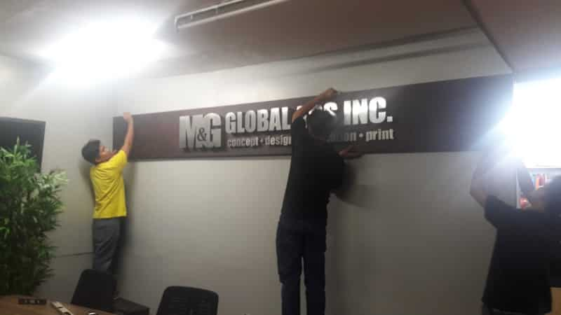 m&g office |stainless signage
