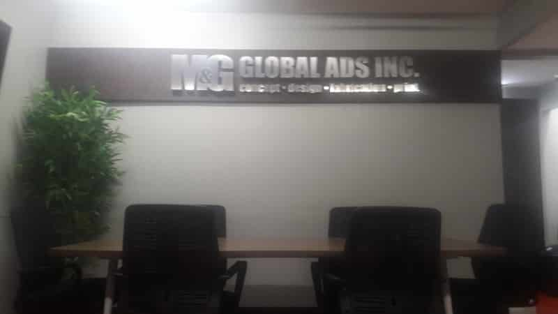 m&g |stainless signage