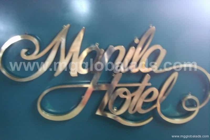Sign Maker | Signage | Manila Hotel