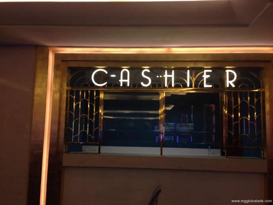 cashier signage