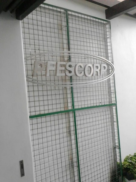 pfescorp stainless signage