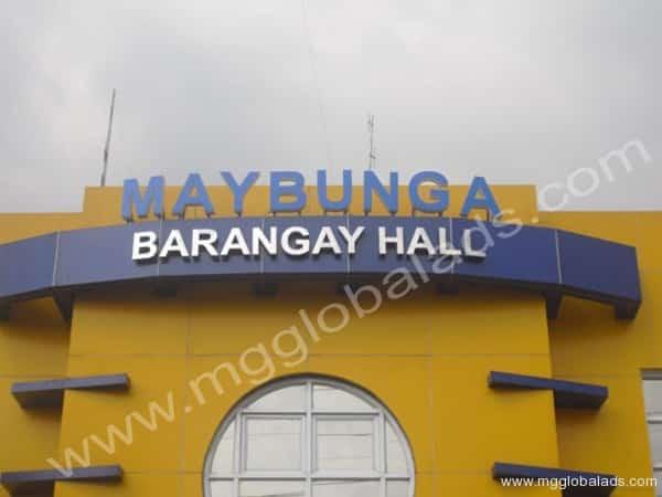 BUILD UP SIGNAGE FOR MAYBUNGA BARANGAY HALL