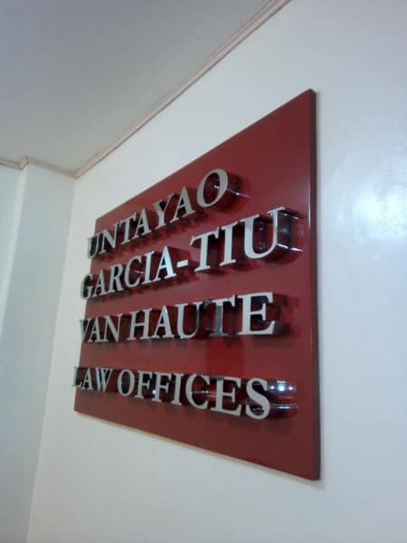 stainless signage law offic
