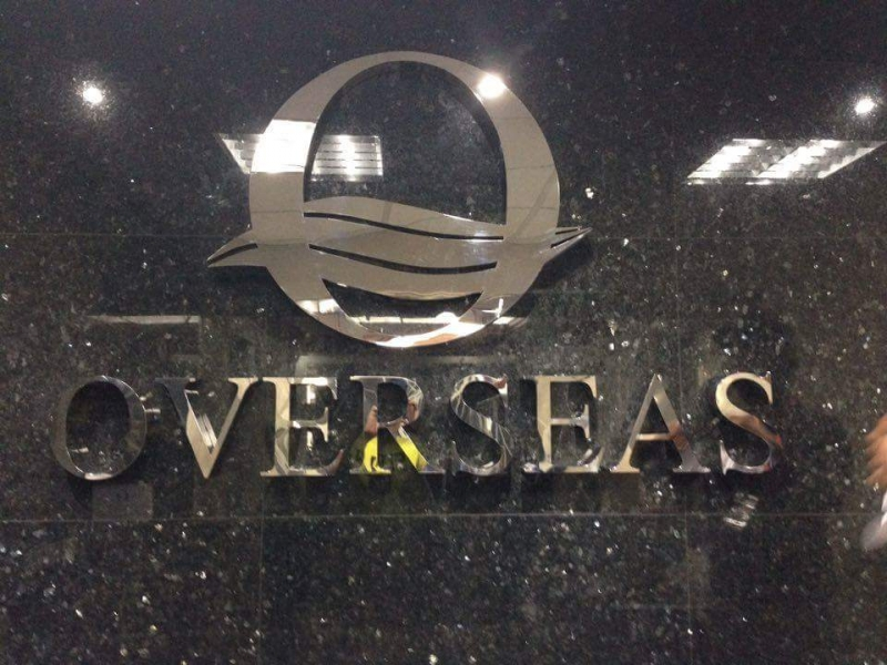 stainless signage overseas