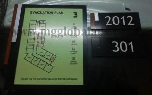 evacuation map glow in the dark