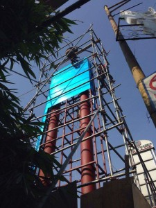 Constructing pylon posts