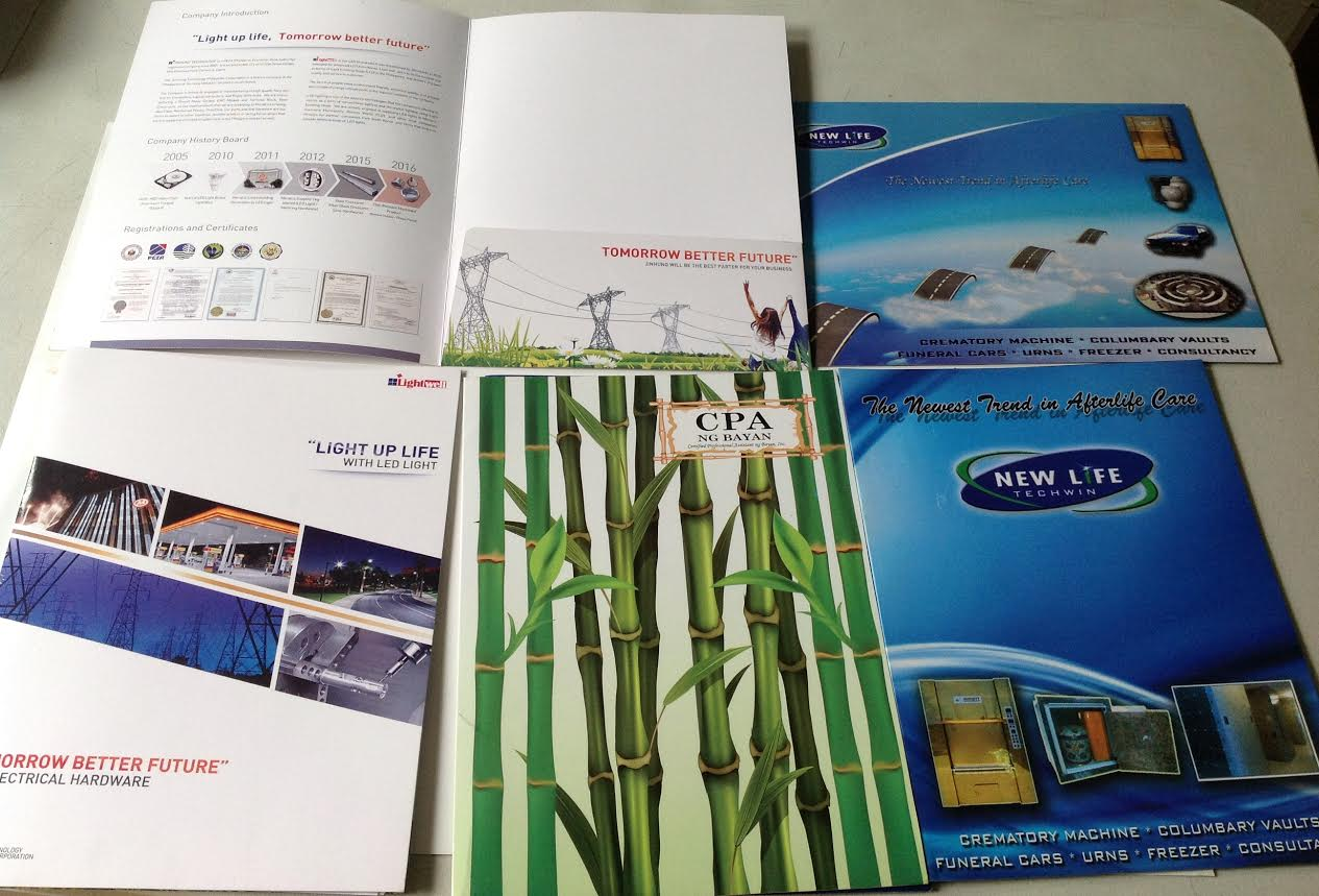 offset printing brochures