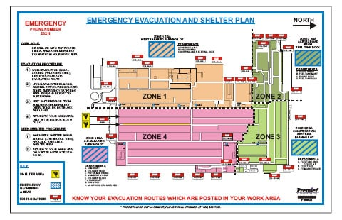 Evacuation Map And Evacuation Plan M Amp G Global Ads A